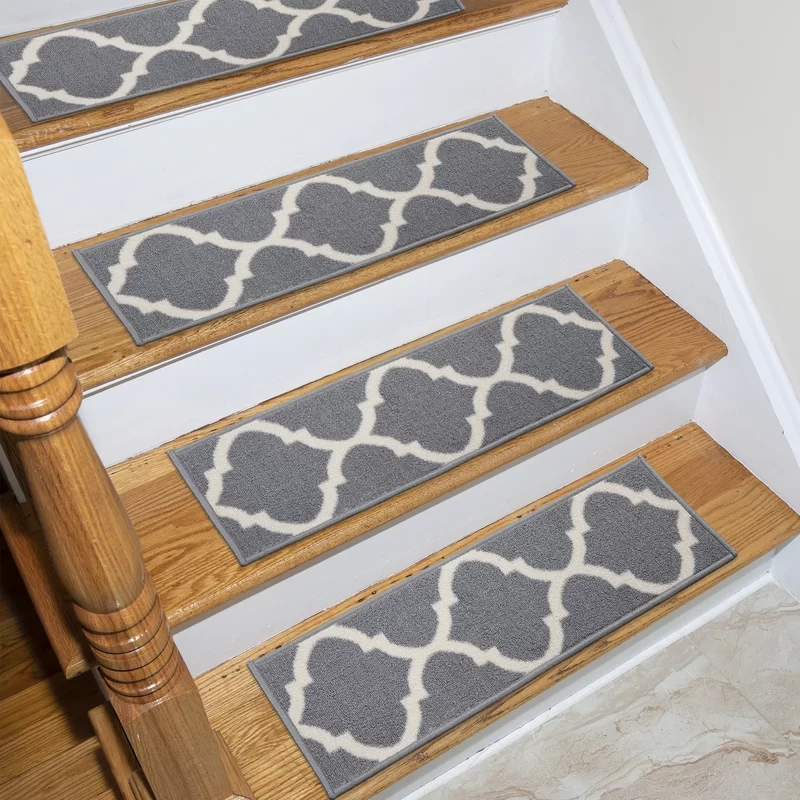 Canora Grey Arette Stair Tread Reviews Wayfair | Wayfair Stair Carpet Runners | Textured Carpet | Rosalind Wheeler | Staircase Makeover | Treads Carpet | Brown Beige