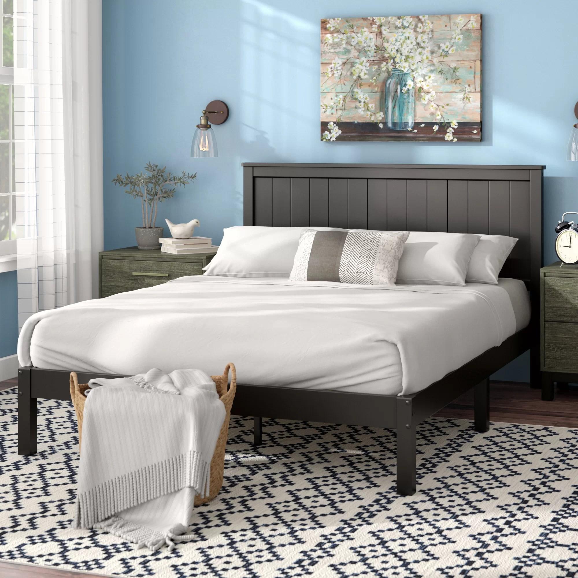 Black Wood Beds Frames You Ll Love In 2020 Wayfair