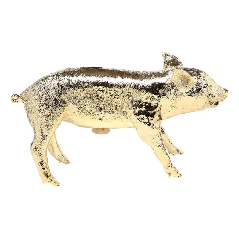 Reality Bank Form Pig Piggy Bank Color: Gold