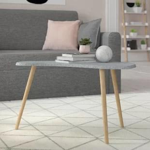 wood side tables living room black curtains for wayfair co uk kidney bean table