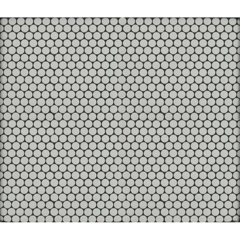 penny 12 x 12 porcelain penny round mosaic tile