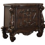 Benjara Traditional Wooden Nightstand With Antique Handles And Scrolled Legs Brown Wayfair