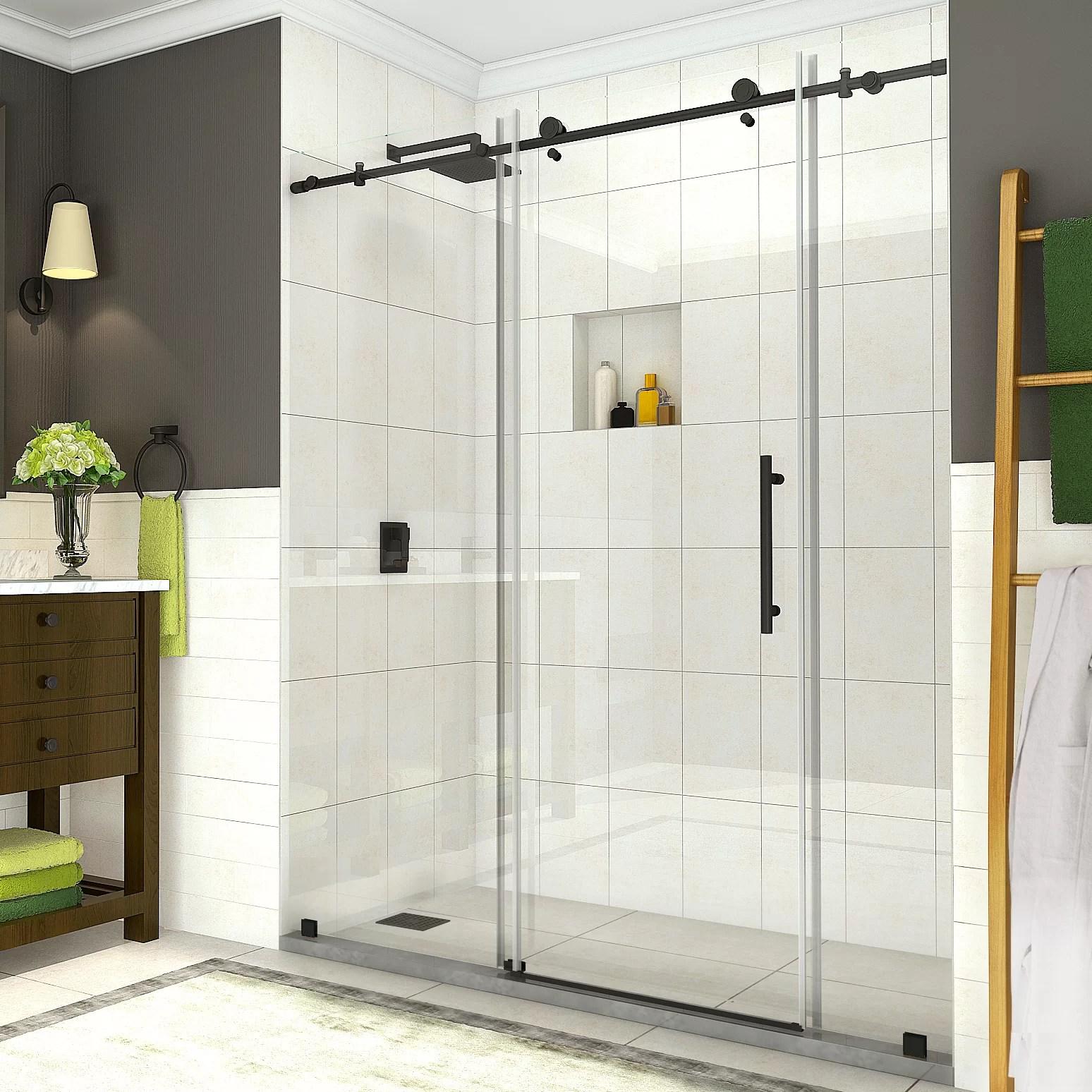 Coraline 72 X 76 Single Sliding Frameless Shower Door