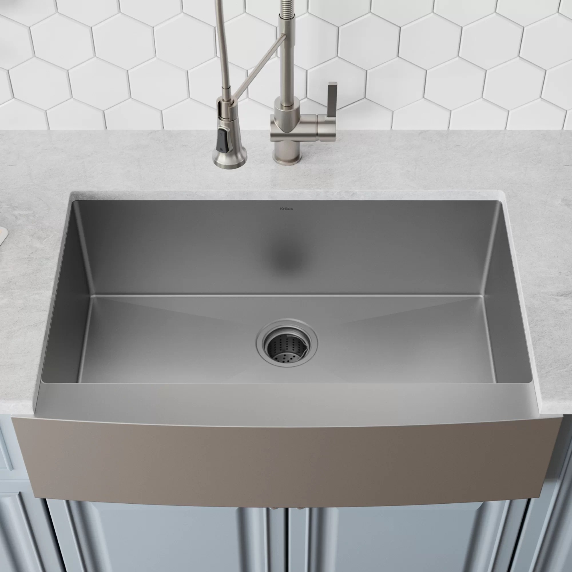 36 kitchen sink average size of khf200 kraus l x 21 w farmhouse with drain assembly