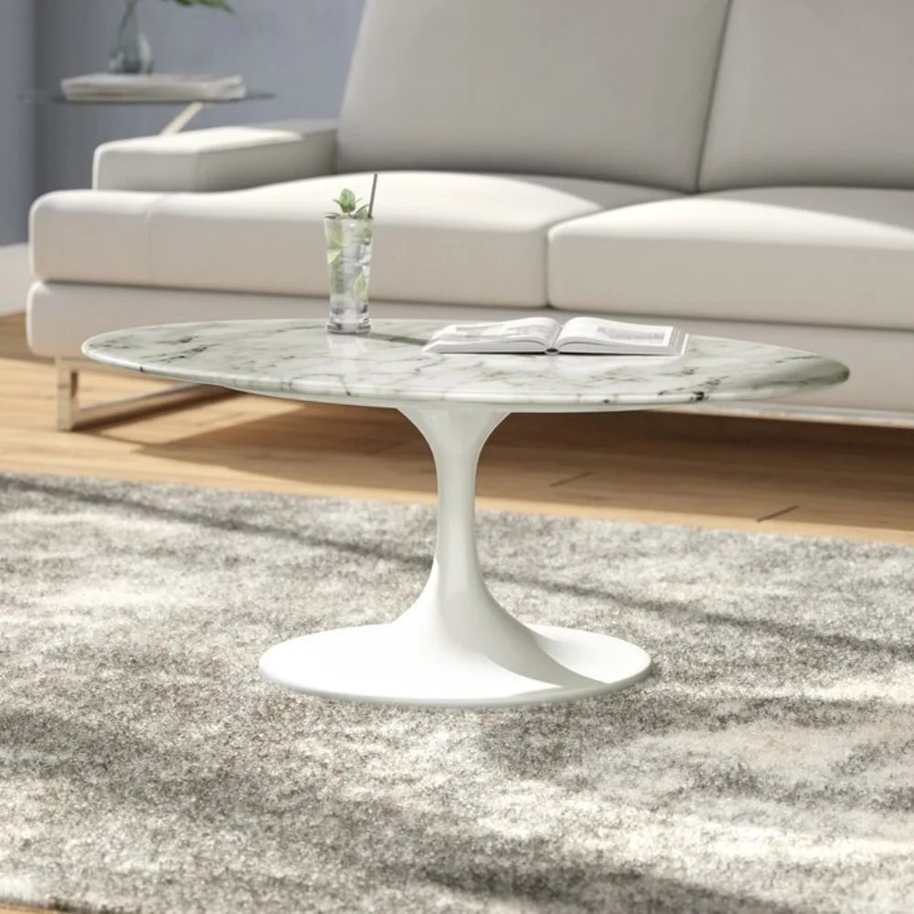 oval pedestal coffee tables you ll love