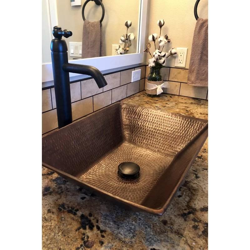 oil rubbed bronze metal rectangular vessel bathroom sink with faucet