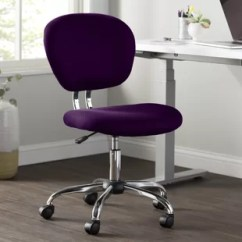 Swivel Chair Uk Gumtree Lawn Cushion Covers Purple Office Chairs Rental For Wedding Stool History You Ll Love Wayfair Quickview