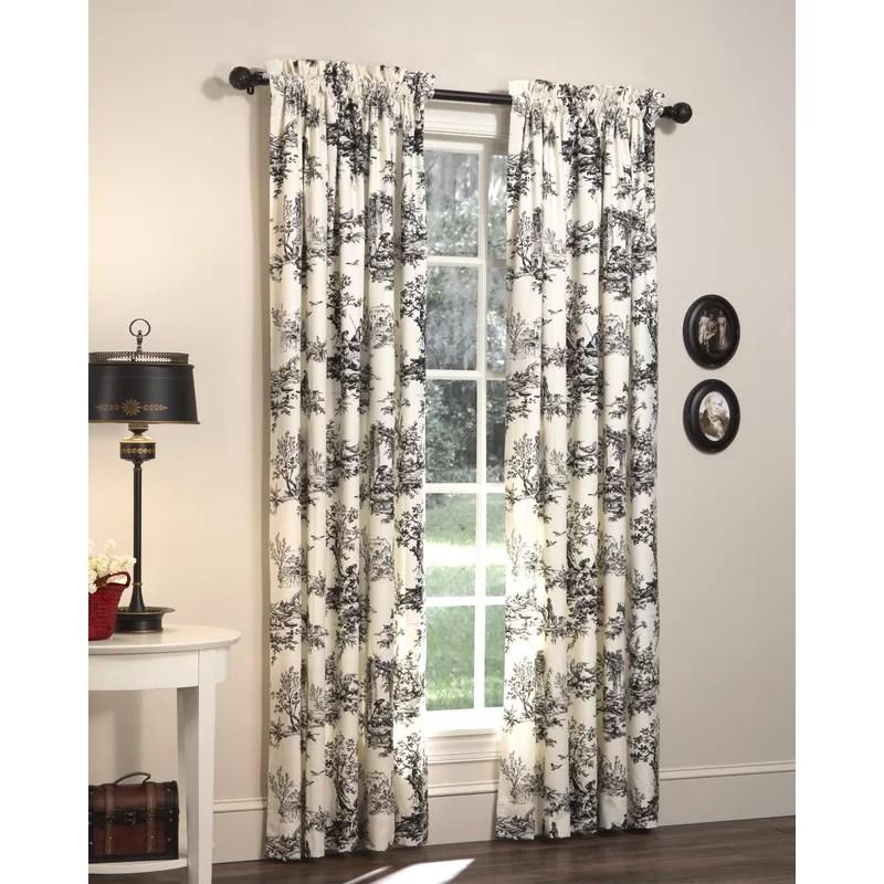 tryston nature floral room darkening rod pocket curtain panels