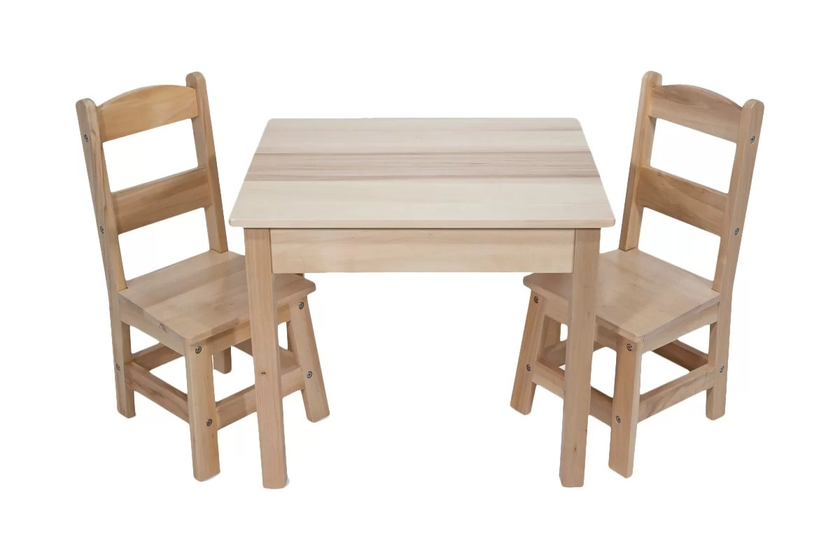 Table With Two Chairs Wooden 3 Piece Rectangular Table And Chairs Set