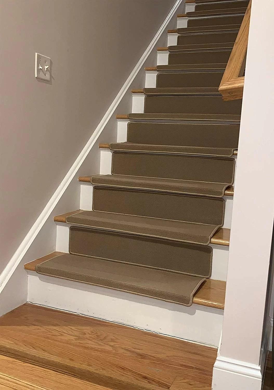 Winston Porter Elinn Bullnose Beige Stair Tread Wayfair | Best Wood To Use For Stair Treads | Oak | Stair Stringers | Carpet Treads | Stair Nosing | Stringers