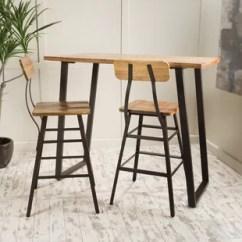 High Top Table Chair Set Yellow Fabric Modern Bar Pub Tables Allmodern Boylan