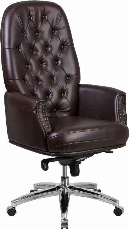 high back tufted chair light grey slipper hickox executive birch lane