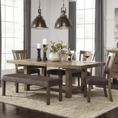 Kitchen Table With Bench And Chairs Lighting Options 8 Seater Dining Set Wayfair Etolin 6 Piece Extendable
