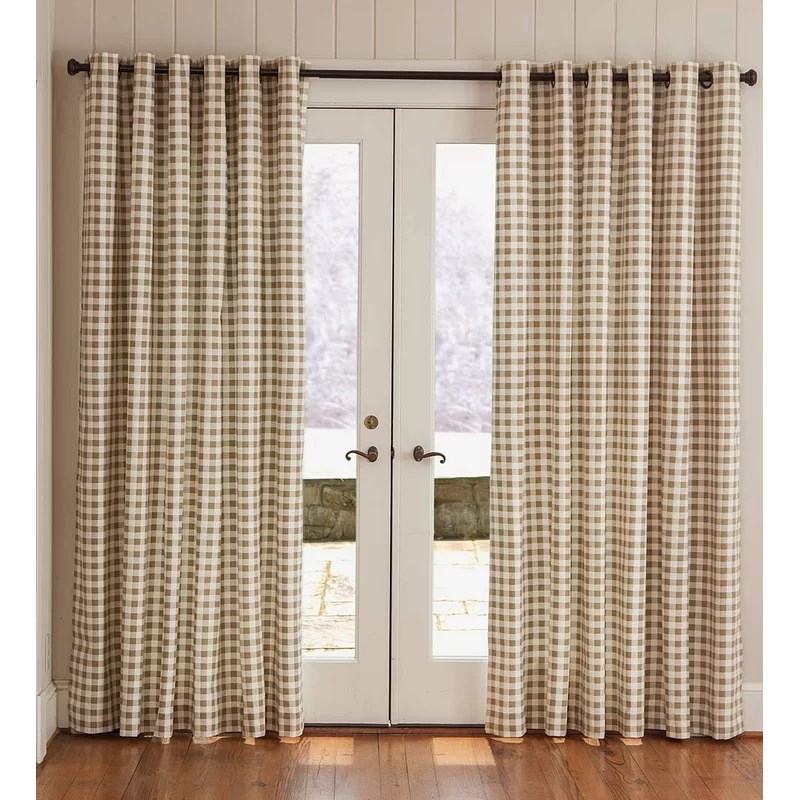 thermalogic plaid room darkening thermal grommet curtain panels