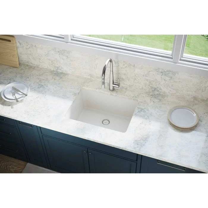 elkay kitchen sinks aid 6000 hd quartz luxe 25 l x 19 w undermount sink reviews wayfair ca