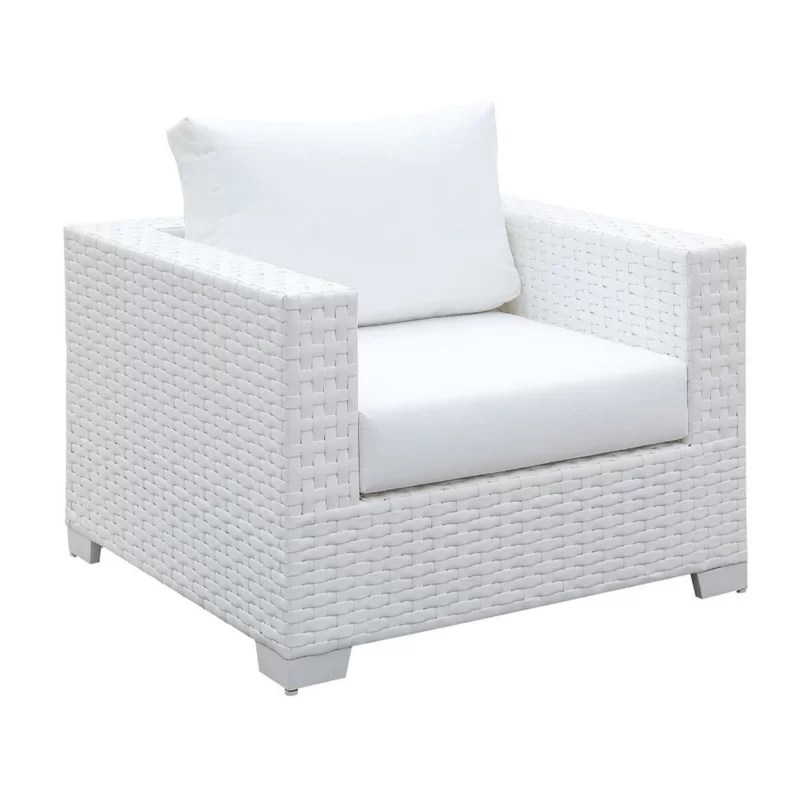 jerilyn square patio chair with cushion