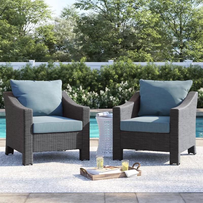 portola patio chair with cushions