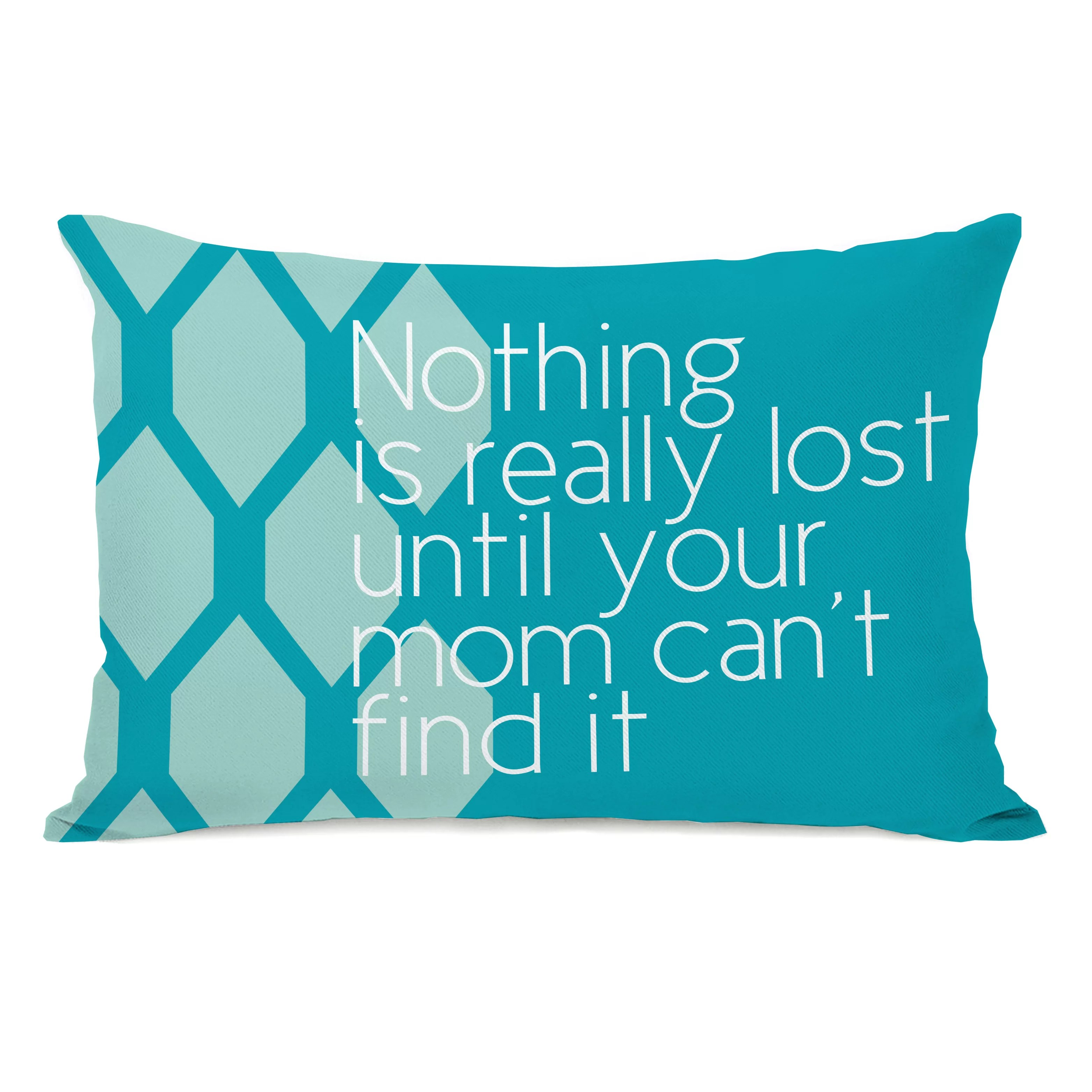 nothing is really lost lumbar throw pillow