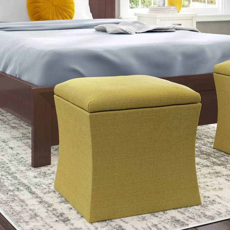 Page Storage Ottoman Upholstery: Fritz Charcoal