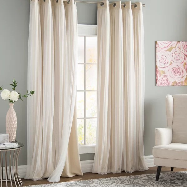 Brockham Solid Room Darkening Grommet Curtain Panels Reviews Birch Lane