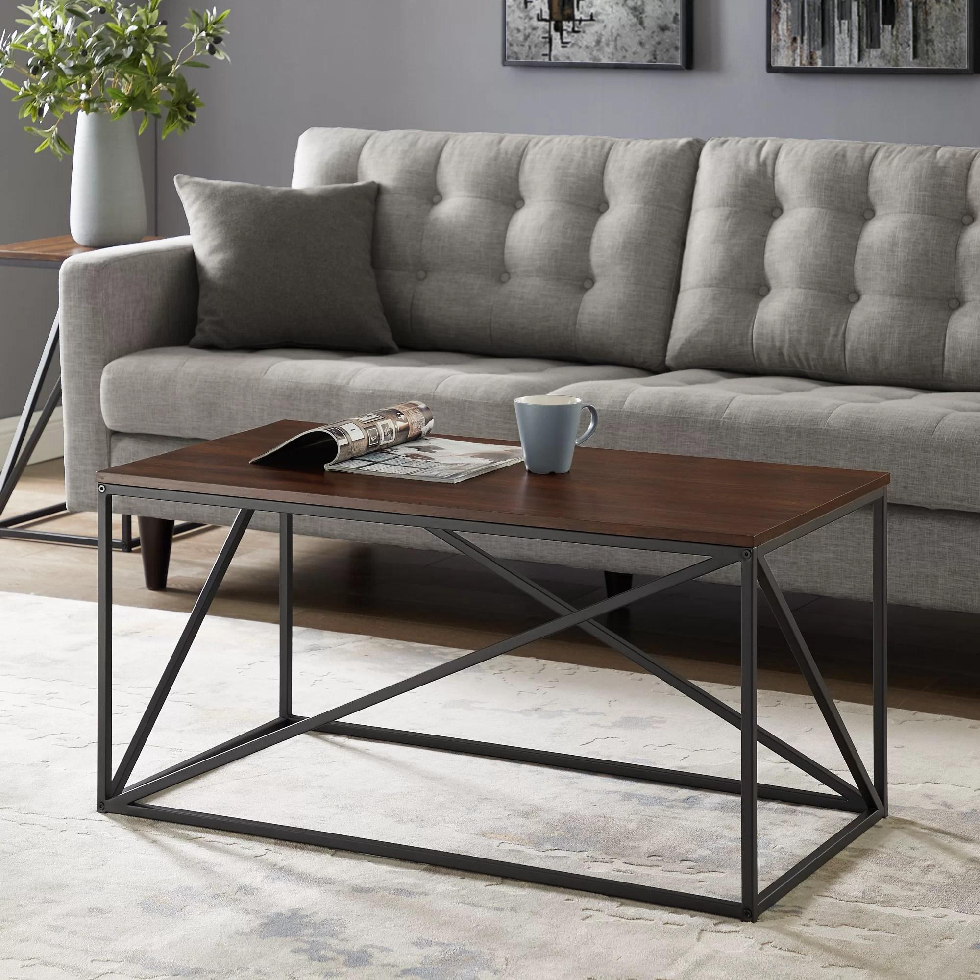 17 Stories Ziegler Frame Coffee Table Reviews Wayfair