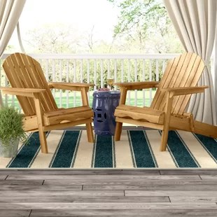 adirondack chair wood outdoor lounge with ottoman chairs you ll love wayfair quickview