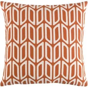 mid century modern orange throw pillows