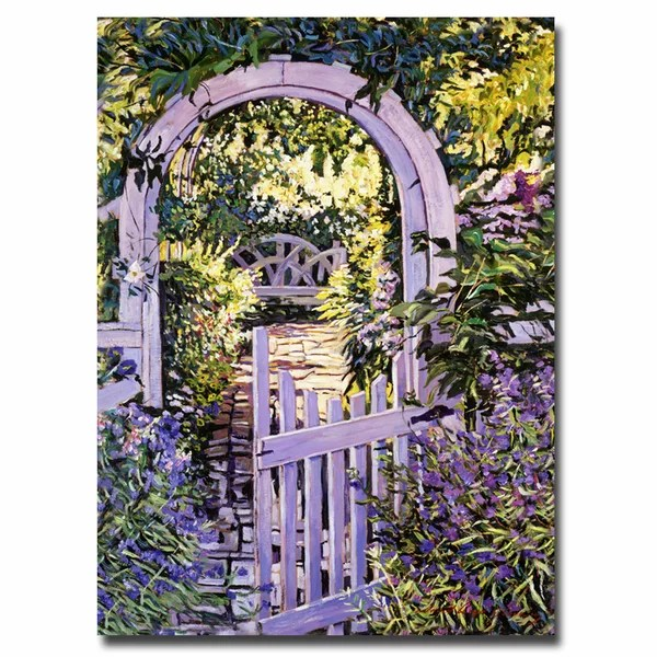 Trademark Art Country Garden Gate By David Lloyd Glover Painting Print On Wrapped Canvas Wayfair
