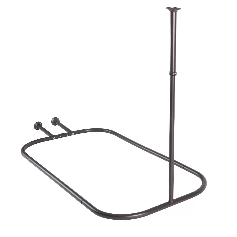 Utopiaalley Rust Free Hoop 24 Oval Fixed Shower Curtain