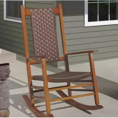 woven rocking chair office bed highland dunes aren wayfair knollwood wicker