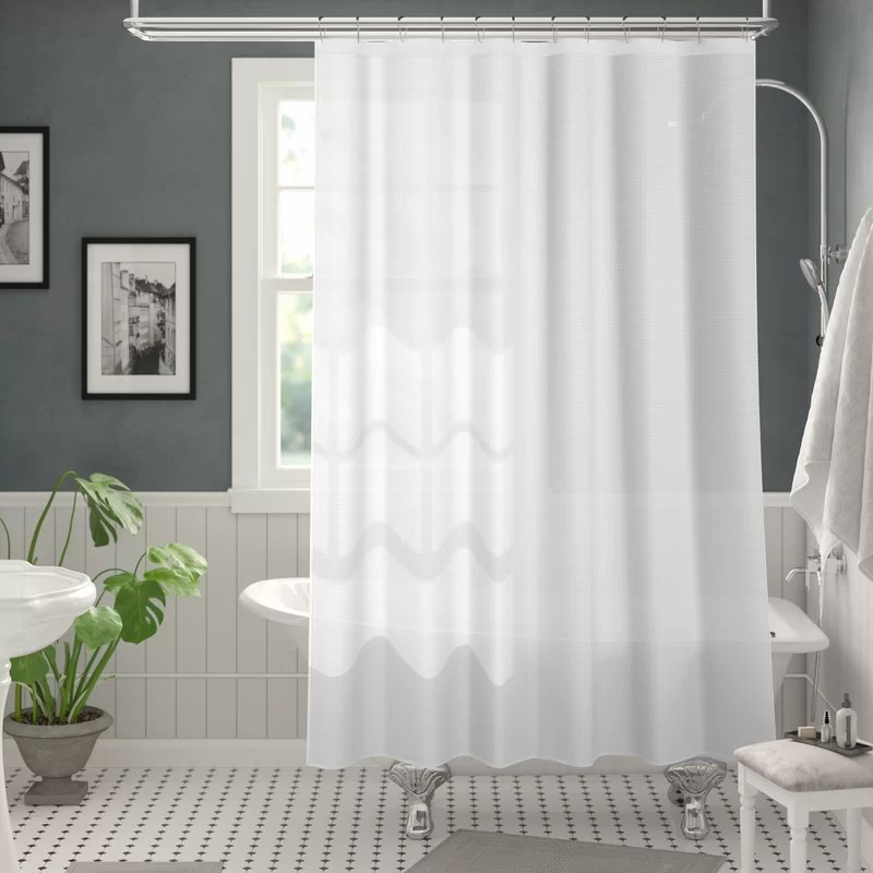 kilby solid color single shower curtain