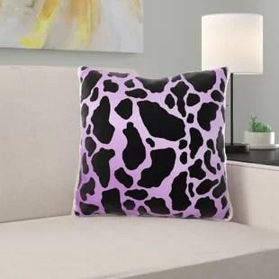 cow print pillow wayfair