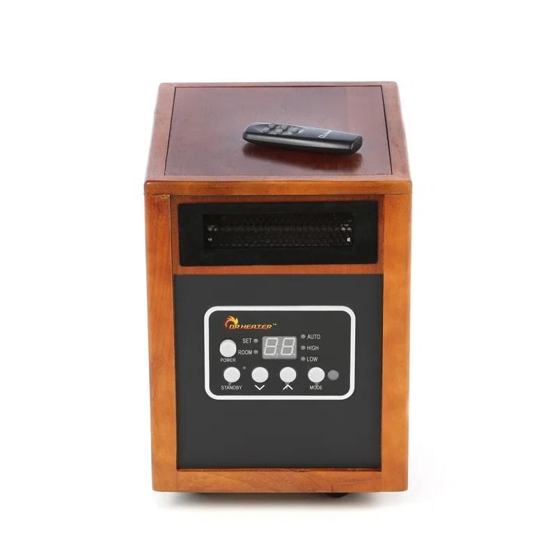 1,500 Watt Portable Electric Infrared Cabinet Heater