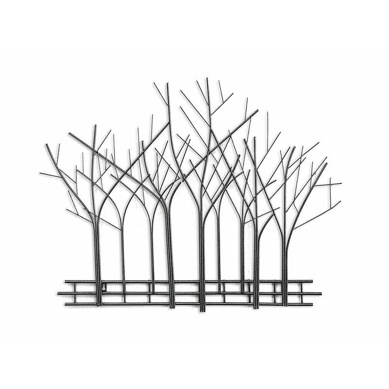Winston Porter Winter Trees Perspective Metal Mid Century