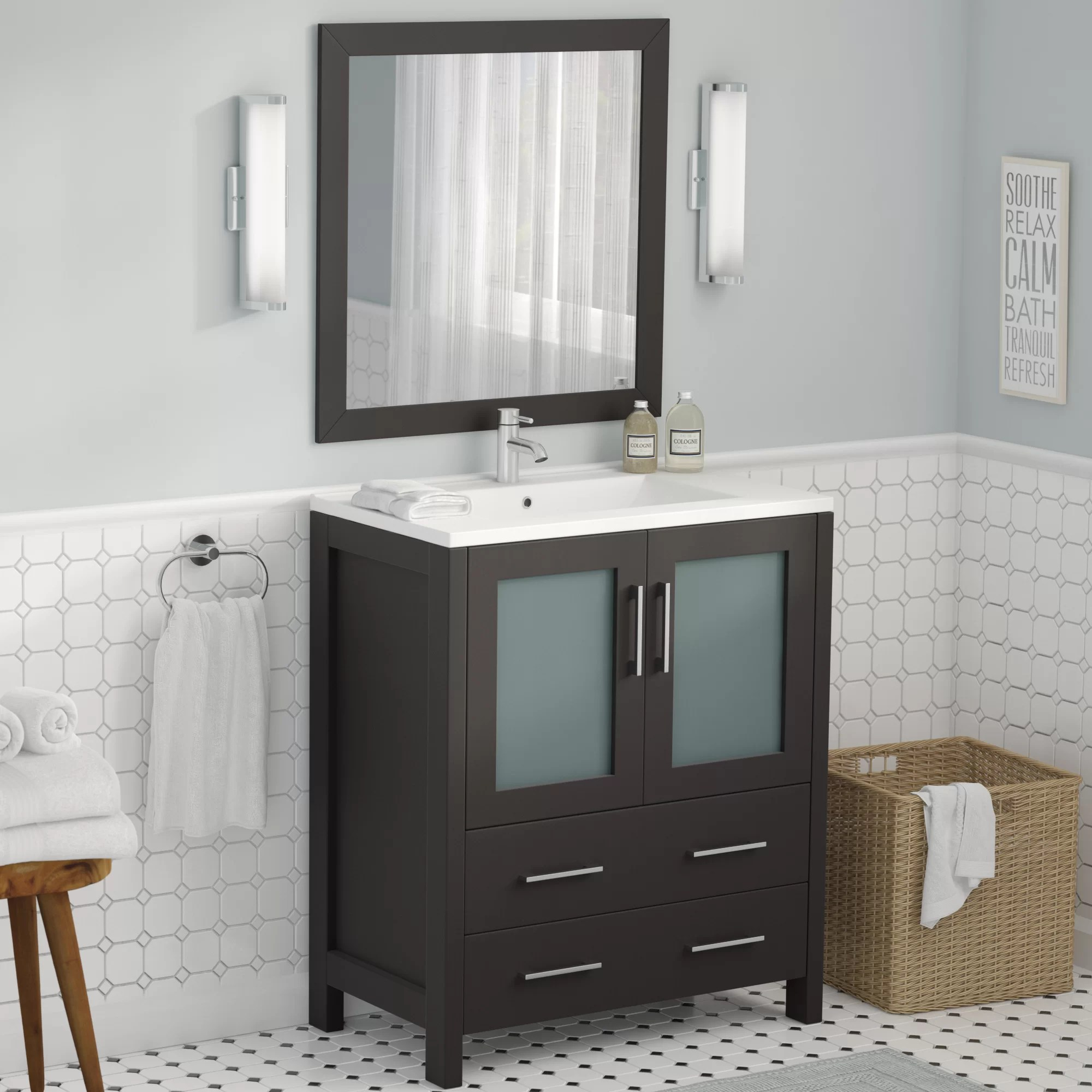 Wade Logan Karson 30 Single Bathroom Vanity Set With Mirror Reviews Wayfair