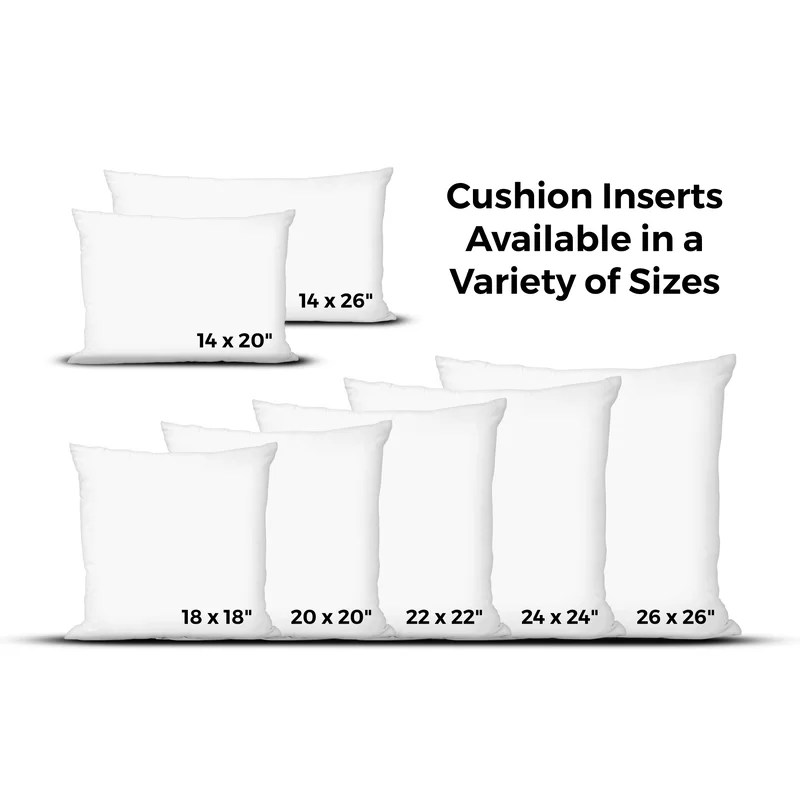 decorative pillow insert sizes online