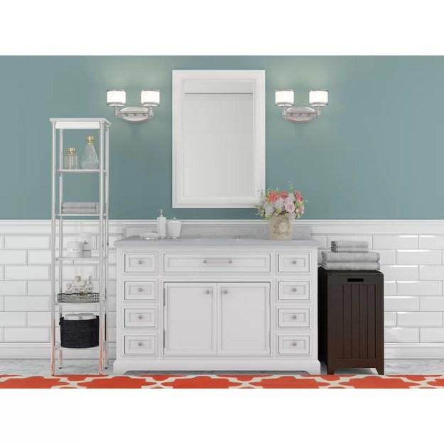 """three posts bergin 48"""" single sink bathroom vanity set & reviews"""