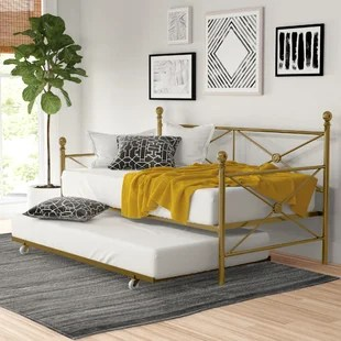 timberwyck metal daybed with trundle
