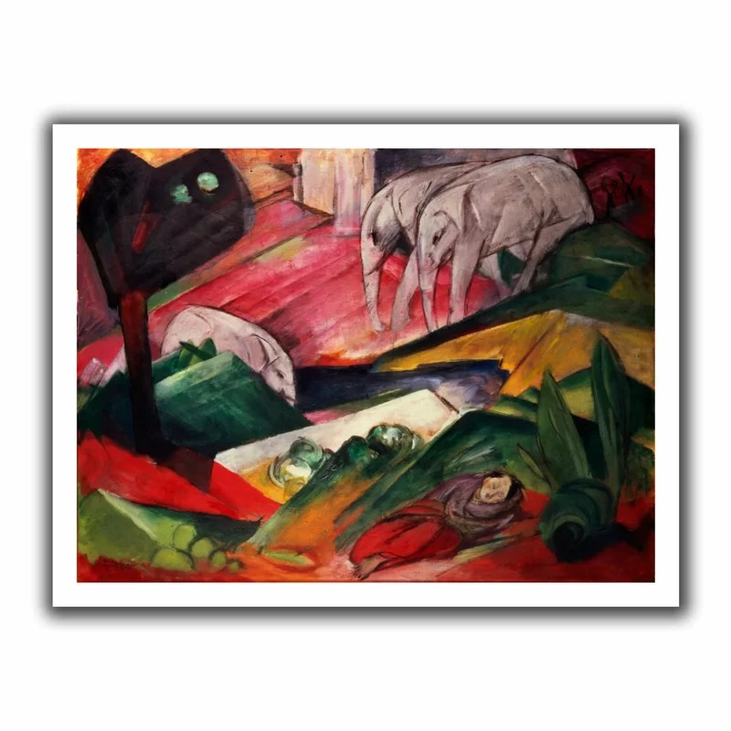 The Dream by Franz Marc  Painting Print on Rolled Canvas Size: 40 H x 52 W