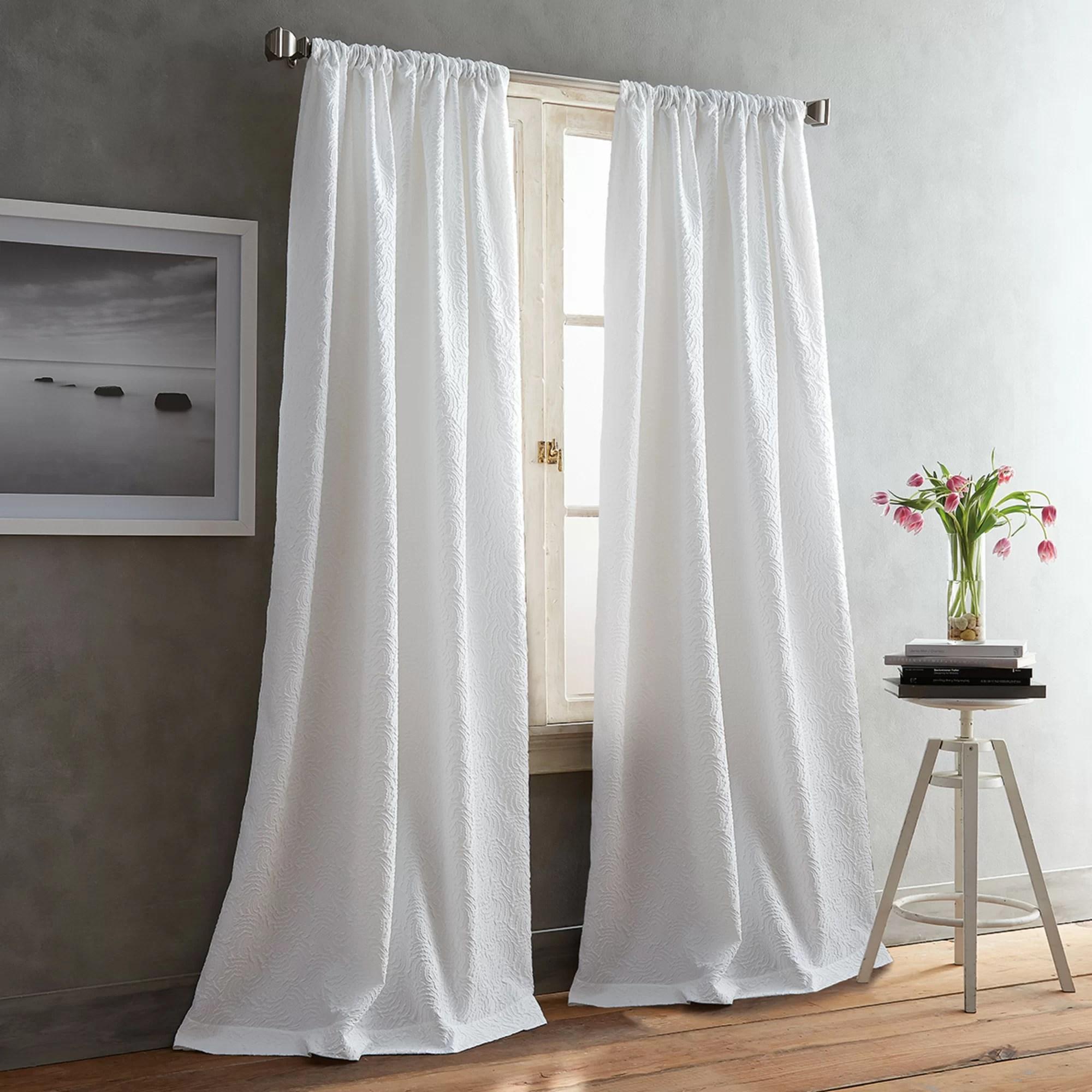 cloud solid color room darkening rod pocket curtain panels