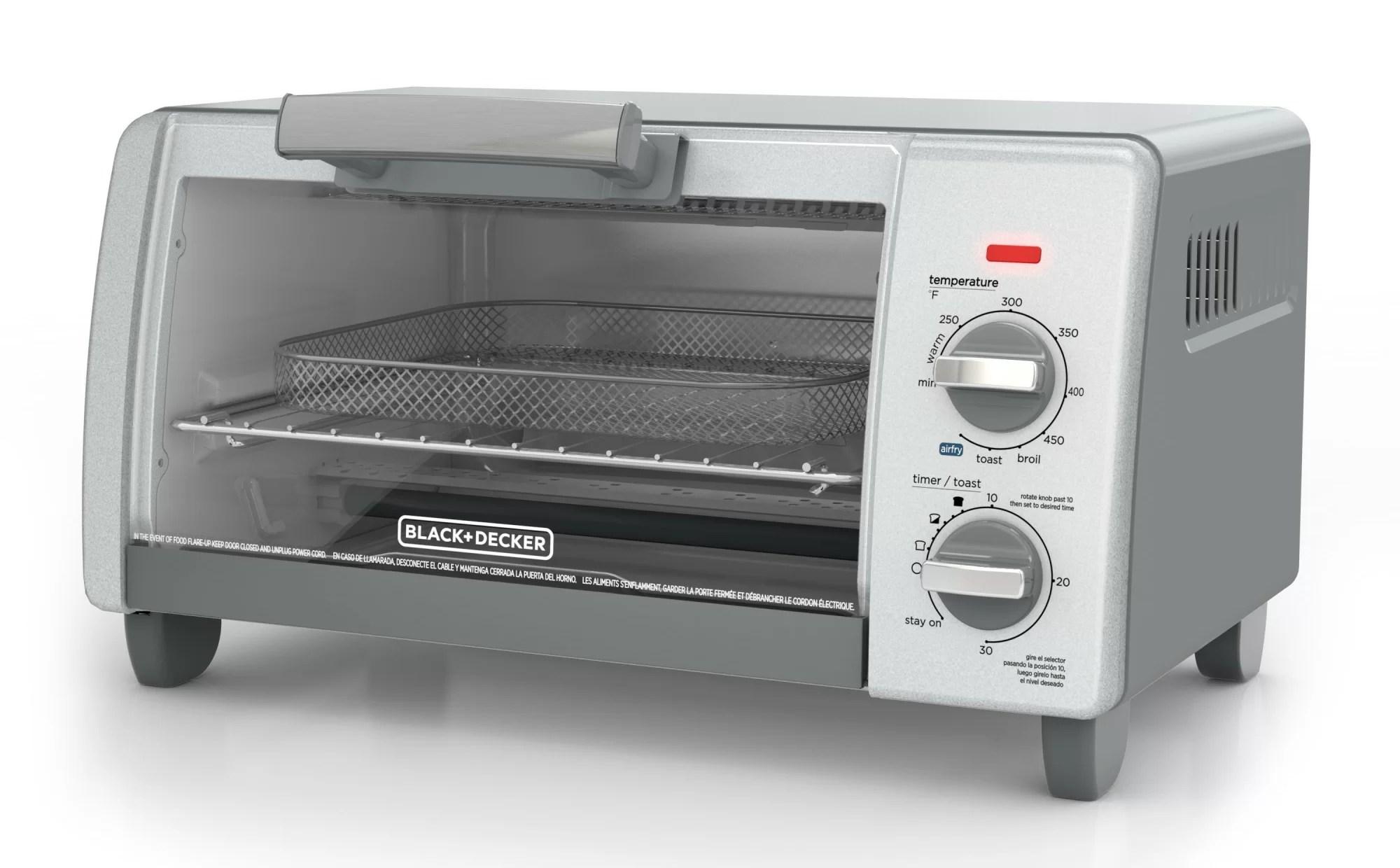 black decker crisp bake air fry 4 slice toaster oven