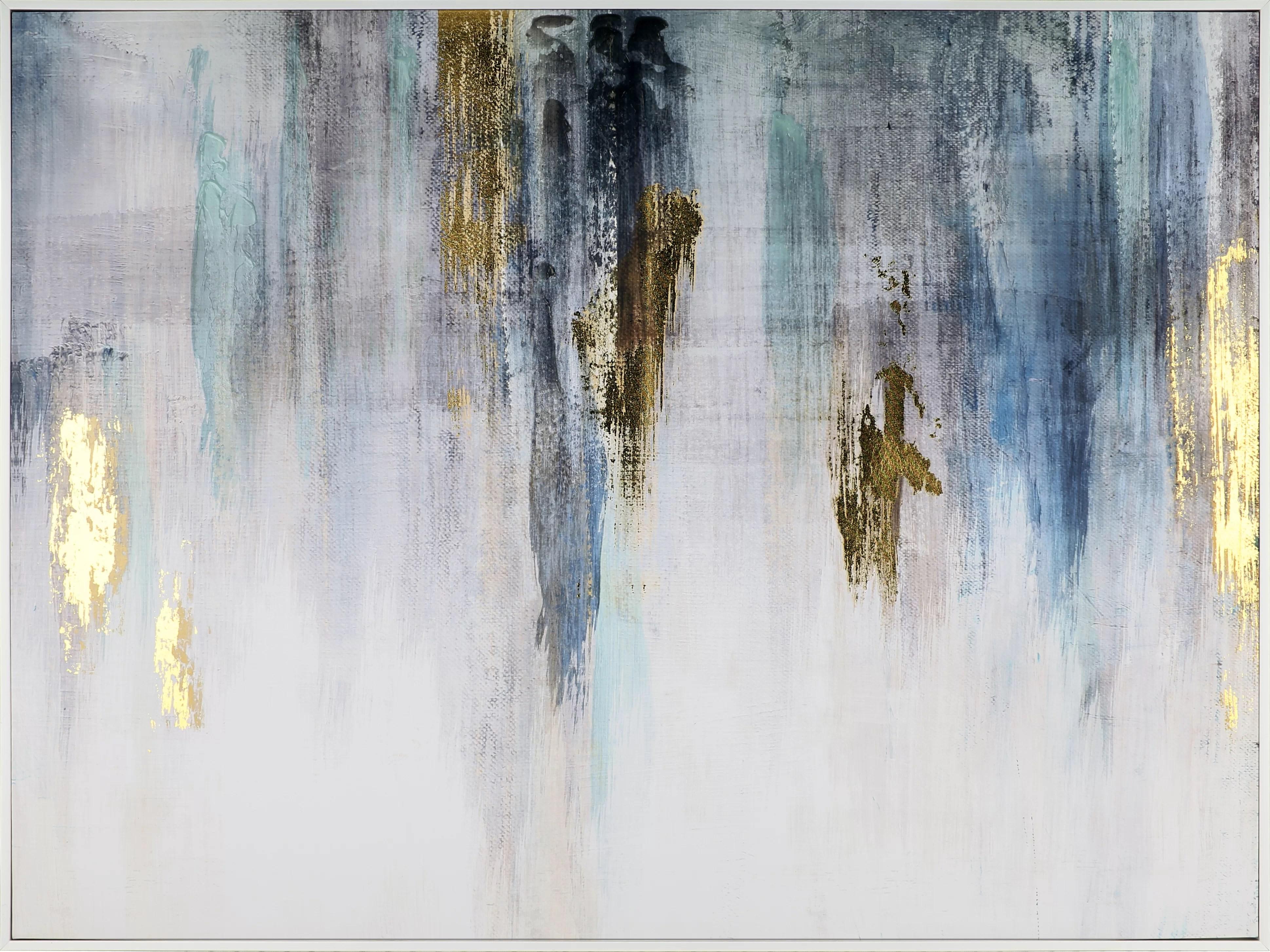 blue abstract ii acrylic