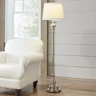 standing lights for living room colours to match grey floor lamps you ll love wayfair quickview