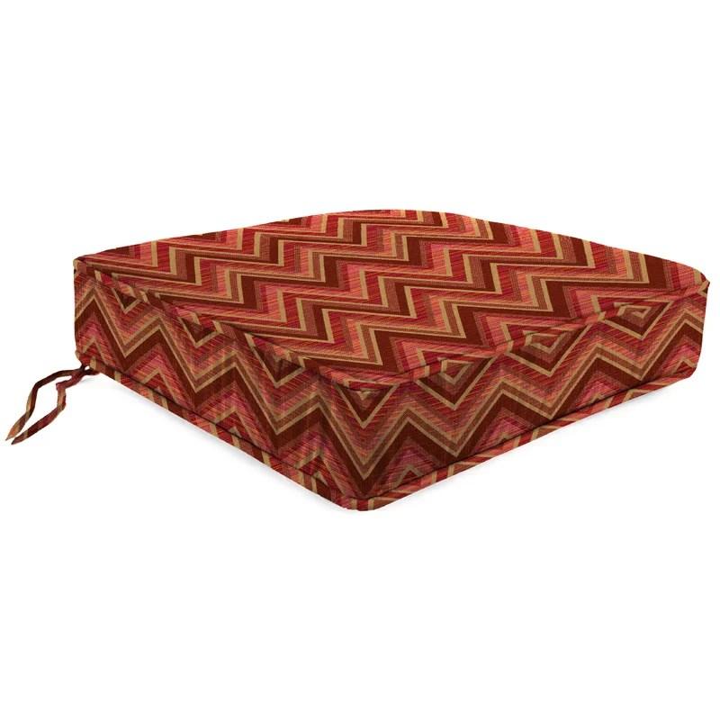 Indoor/Outdoor Sunbrella Lounge Chair Cushion Fabric: Fisher Sunset