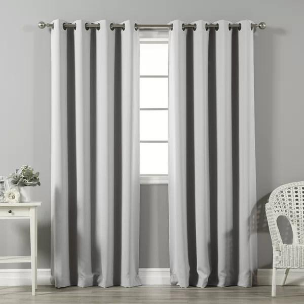 modern grey curtains