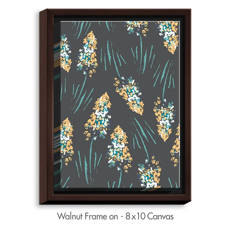 Graceful Meadows by Zara Martina Graphic Art on Wrapped Framed Canvas Size: 21.75 H x 17.75 W x 1.75 D Frame Color: Walnut