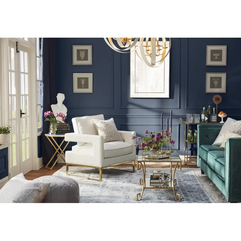 living rooms with blue area rugs cb2 room ideas broadview power loomed navy rug joss main