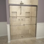 1000 Series 47 X 70 Double Sliding Semi Frameless Shower Door