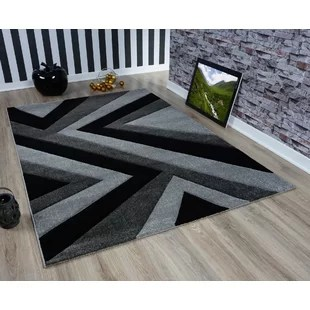 living room rugs modern contemporary fireplace design wayfair co uk new soft grey black rug