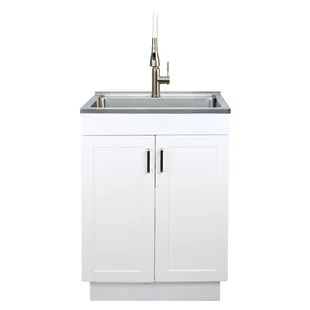 23 6 l x 19 52 w free standing laundry sink with faucet